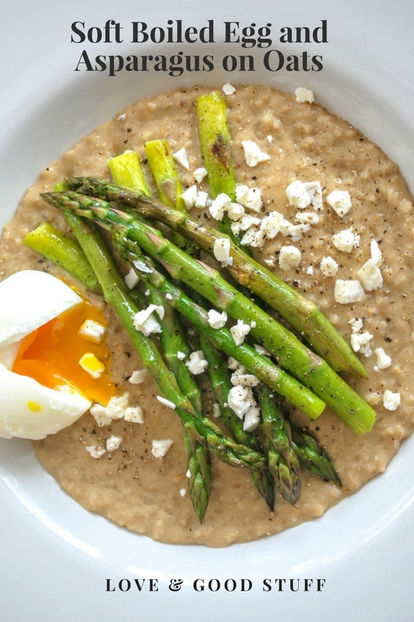 Soft Boiled Egg and Asparagus with Oats