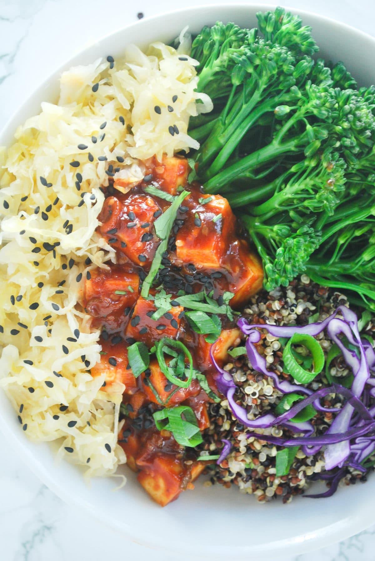 Korean Bbq Tofu Bowls Love And Good Stuff