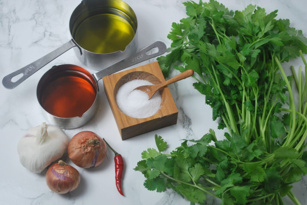 ingredients for chimichurri