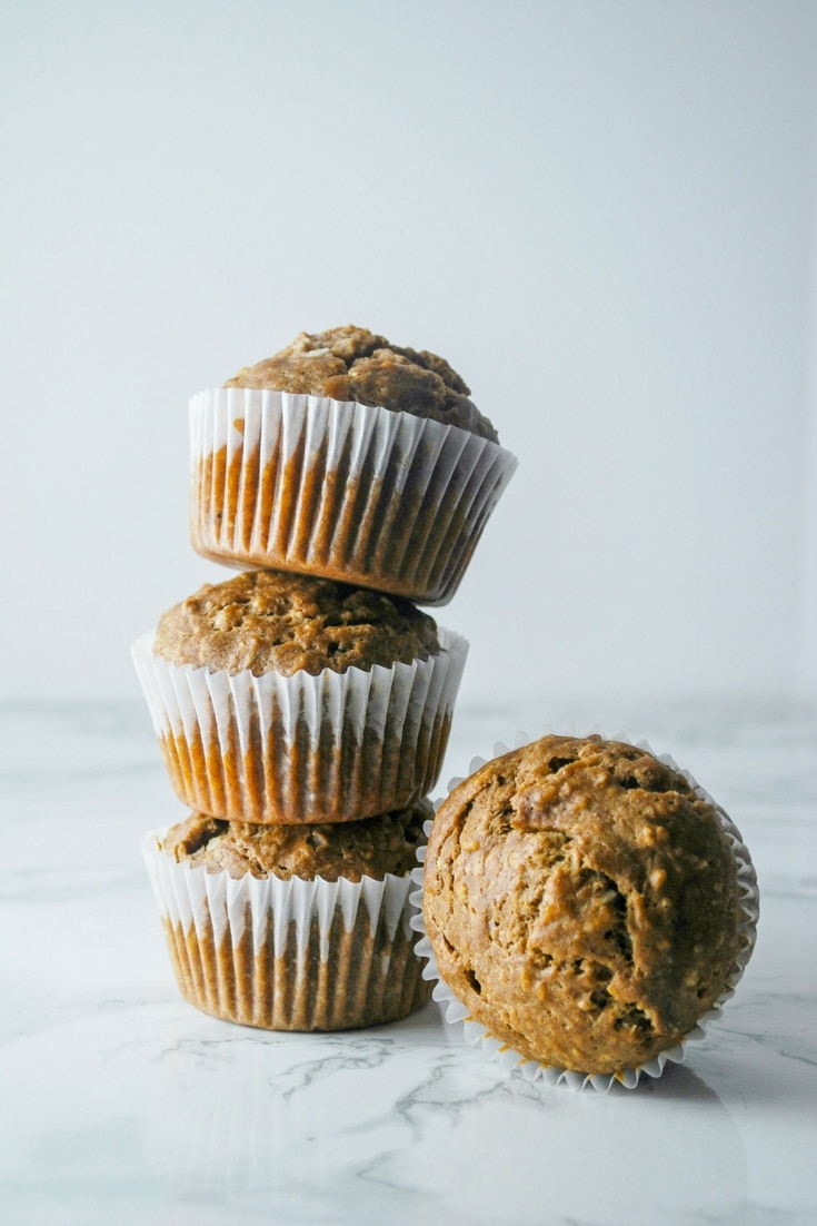 Heathier Muffins!  Banana and coconut with a hint of cocoa, these muffins are only 150 calories a piece