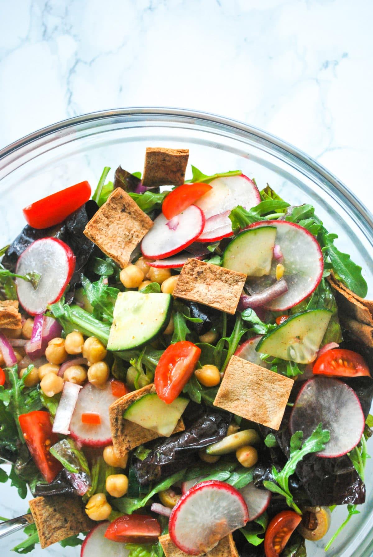 Chickpea Fattoush Salad