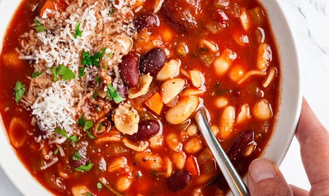 Pasta Fagioli – Pasta and Bean Soup