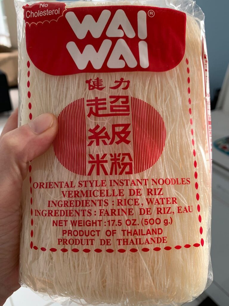a package of rice vermacelli noodles