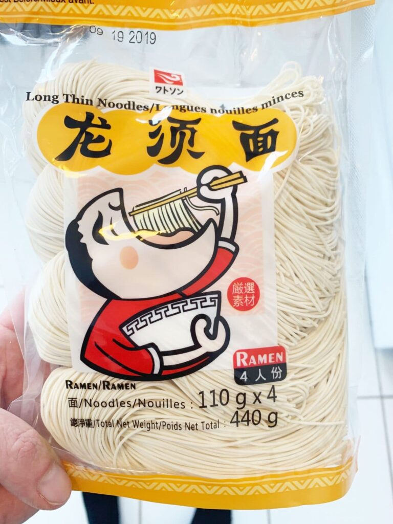 a package of ramen noodles