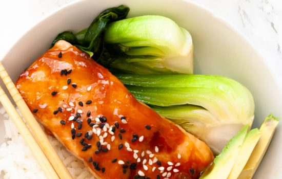 Teriyaki Salmon Bowls