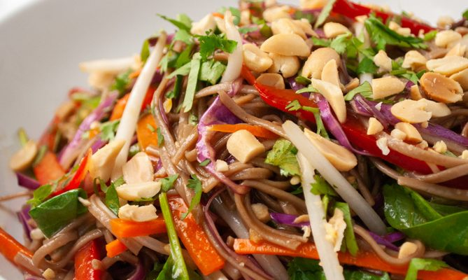 Rainbow Thai Noodle Salad