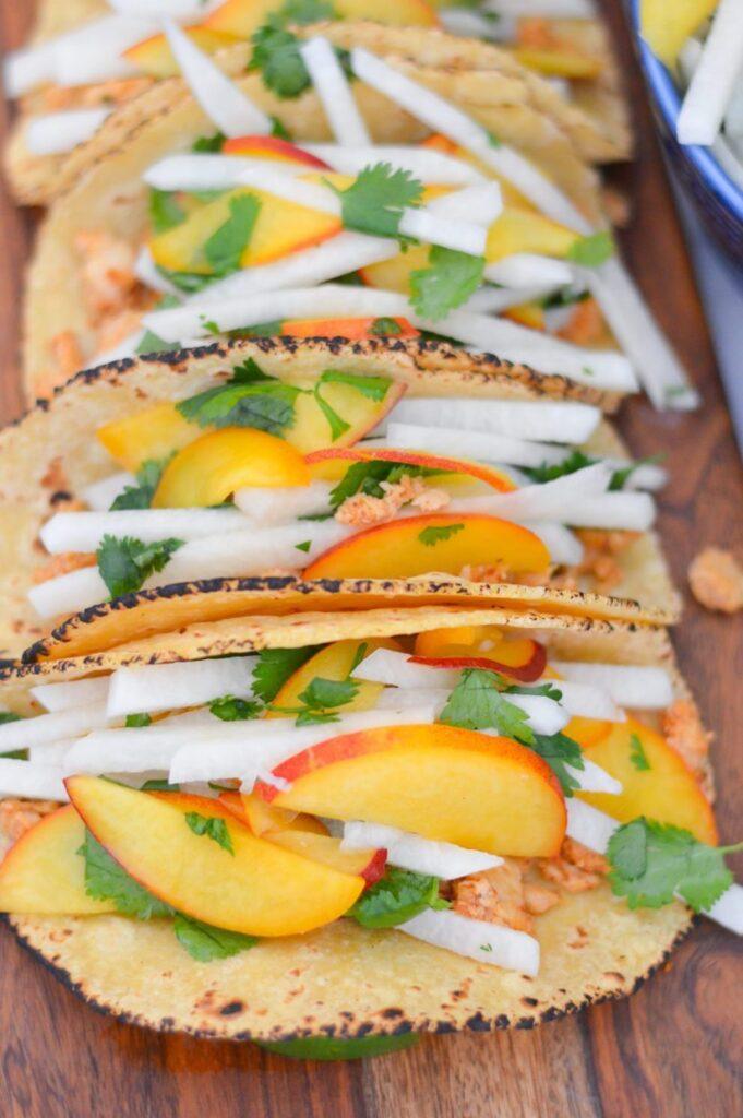 fish tacos with jicama slaw