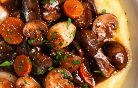 Mushroom Bourguignon (Mushrooms Burgundy)