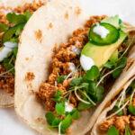 tofu tacos in corn tortillas