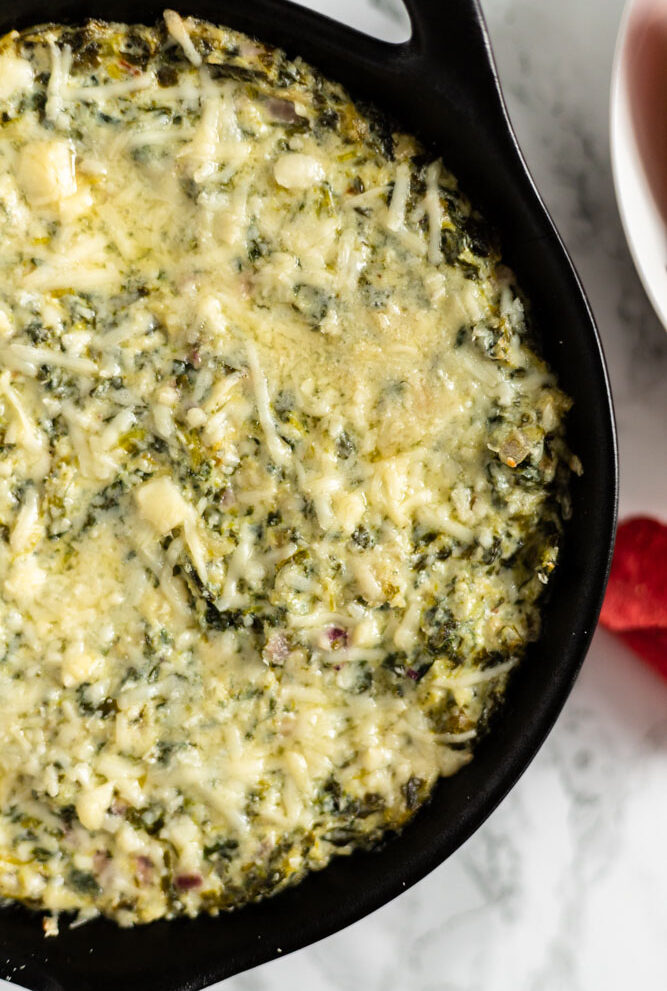 healthy baked spinach artichoke dip