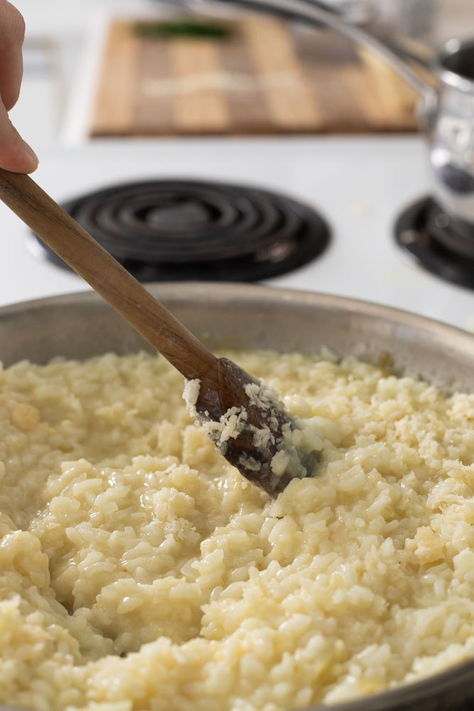 stirring risotto