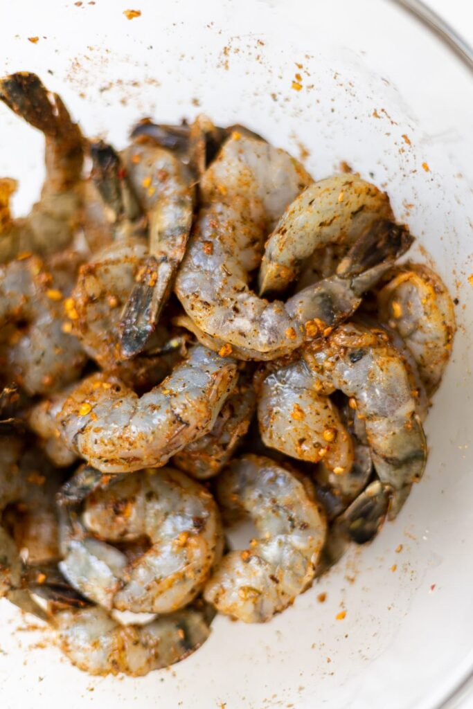 cajun spiced shrimp in a bowl
