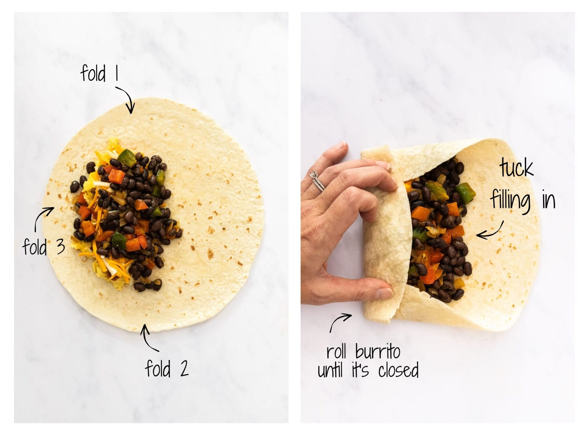 A visual walkthrough on how to fold a burrrito.