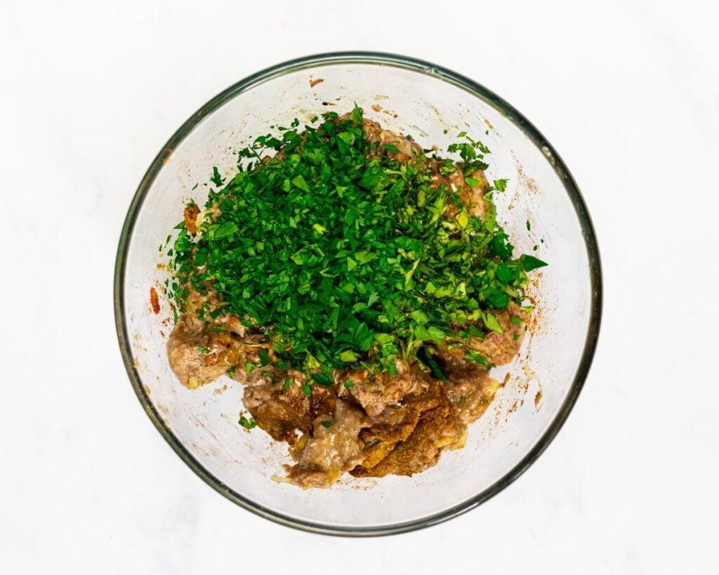 seasoned mined meat in a bowl